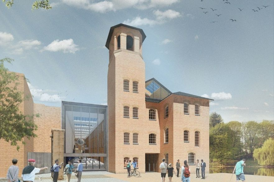 Artist impression of the Silk Mill Museum of Making exterior