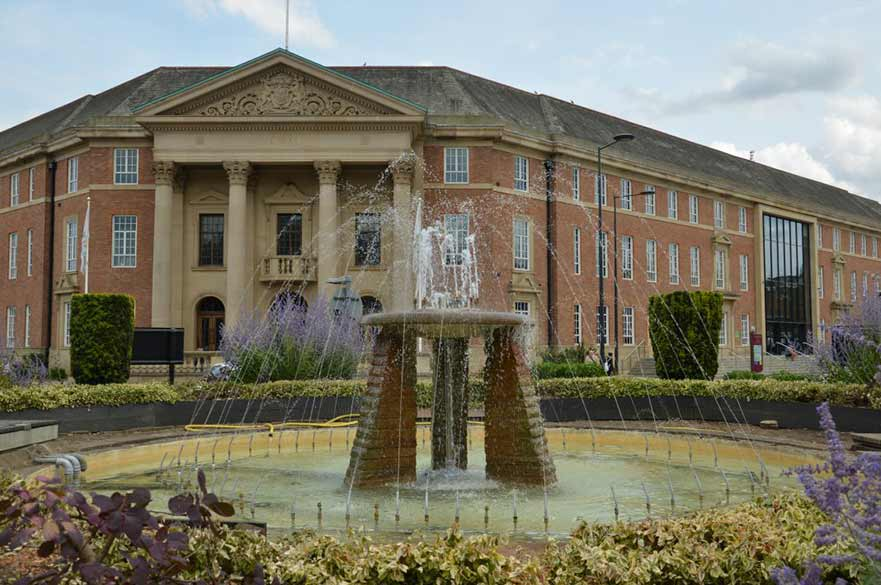 Fountain in front of Council House