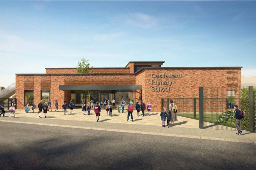Artist impression Castleward Primary School