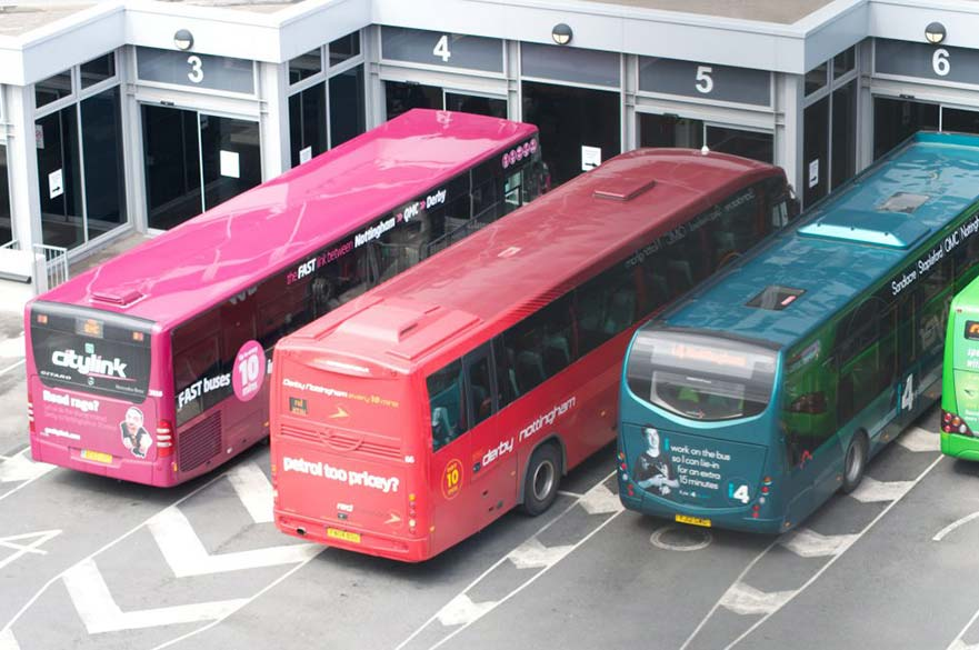 Buses at Derby Bus Station